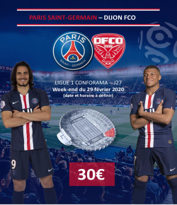 BILLETTERIE PSG: PARIS SAINT GERMAIN-DIJON